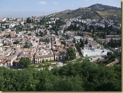 View of Albaicin from Alhambra