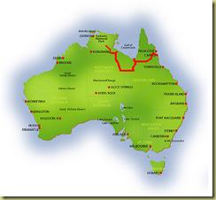 Australia Map Pine Creek