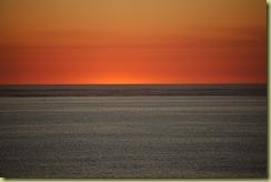 The sun has set at Coral Bay