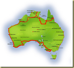 Australia Map Great Ocean Road