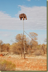 Rhino on a Pole