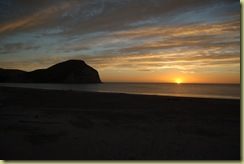 Sunset over Mahia Bay