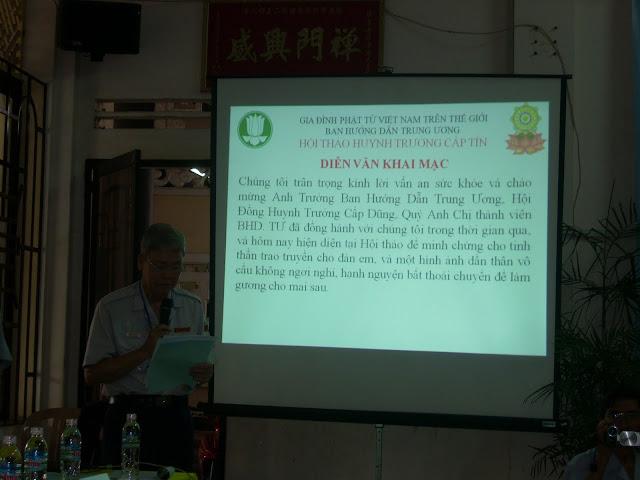 Diễn văn khai mạc Hội thảo HT cấp Tín