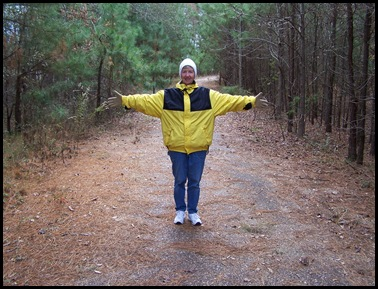 Me on our walk at Clear Springs, 12-11-09