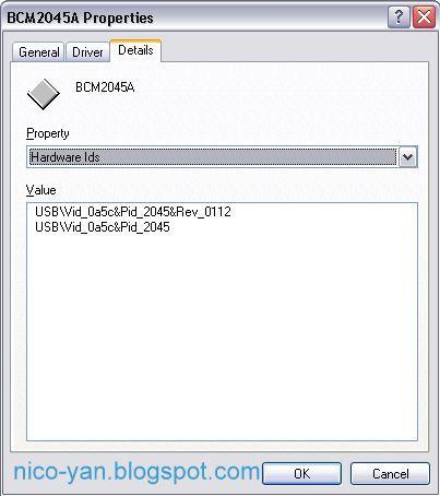 Screenshot Hardware Properties