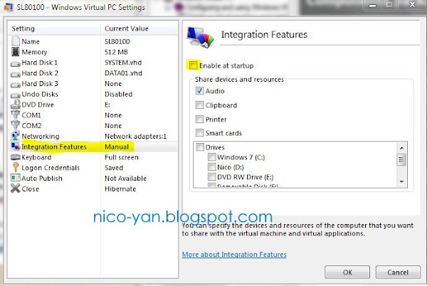setting remote apps di VPC untuk XP mode