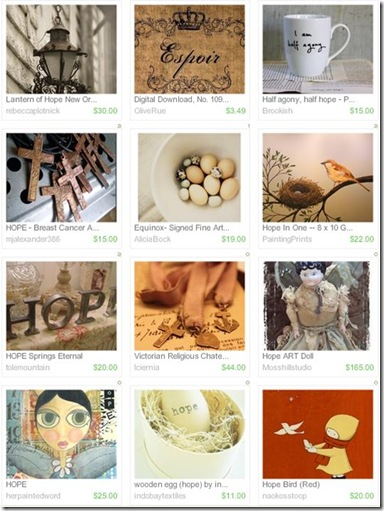 Etsy Treasury 6-1-10 HOPE