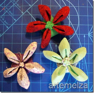 artemelza - flor com duplo tecido