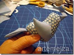 artemelza - passarinho de patchwork