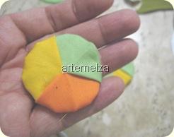 artemelza - fuxico trançado triangular