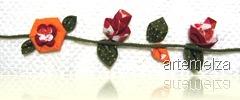 artemelza - flor de fuxico triangular