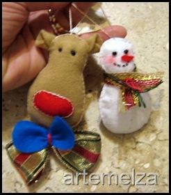 artemelza - rena e boneco de neve