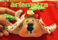 artemelza - cachorrinho de tecido