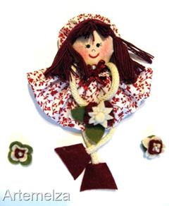 artemelza - bonequina de fuxico