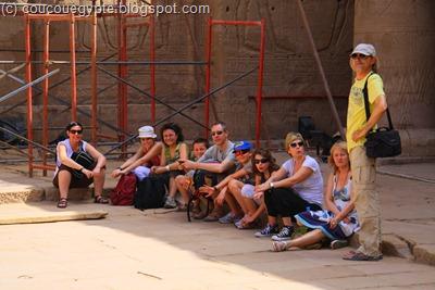 """Notre groupe, baptisé """"Ramsès"""" par notre guide Azazi."""