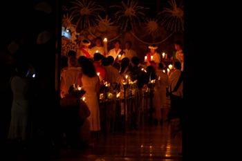 ... à la lumère des bougies