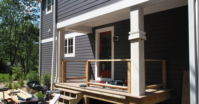The L Shaped House Carpentry Porches Day 8
