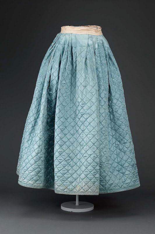 Woman's quilted petticoat