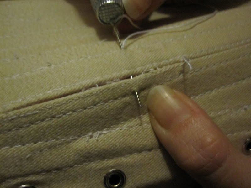 Repairing the split: invisible stitching, wraping the thread round the bone