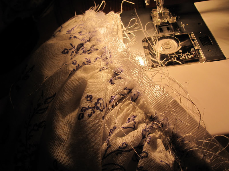 Gathers sewn on to petersham waistband