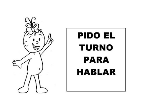 Dibujos para colorear de normas de cortesia para niños - Imagui