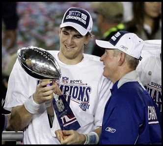 Eli Manning Tom Coughlin Super Bowl