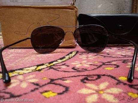 صورة نهائية للنظارة مع الطرد + الحافظة الجلدية