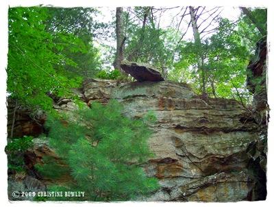 Falling rock zone