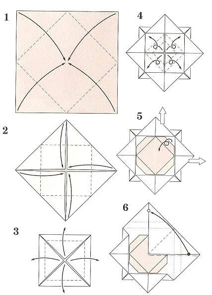 how to make origami rose step by step instructions