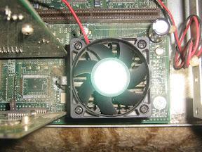 Processador Intel Pentium 133 instalado
