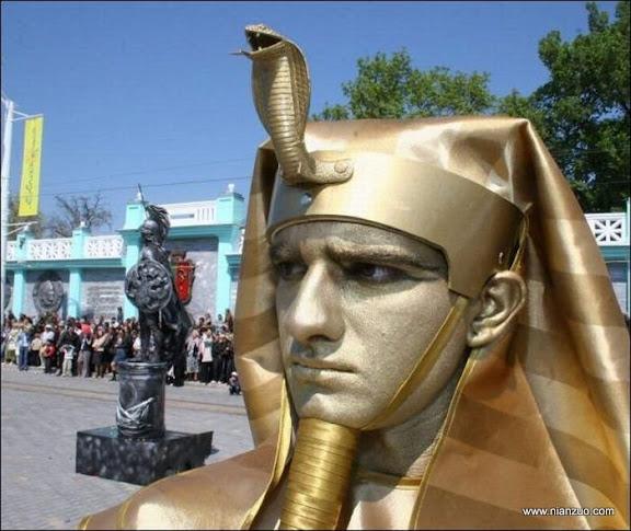 活雕塑大赛 人家是胡子吧,响尾蛇,埃及,法老