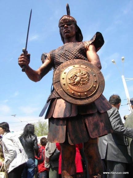 活雕塑大赛 古罗马战士,士兵,盾牌