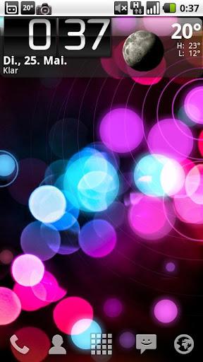 Color Comets Live Wallpaper
