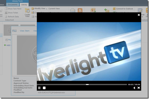 Silverlight Media Player
