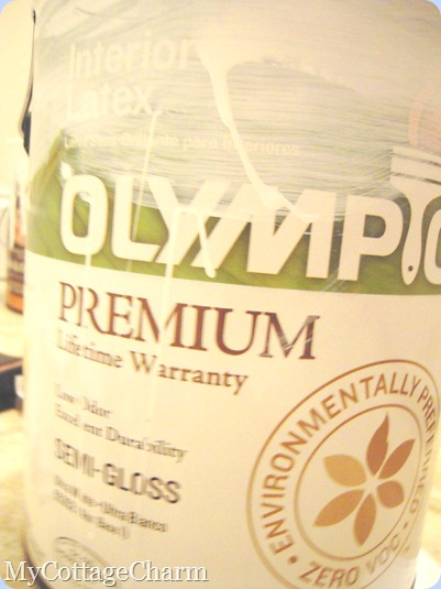 olympic, semi-gloss ultra White paint
