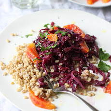 Blood-orange Braised Cabbage on Barley