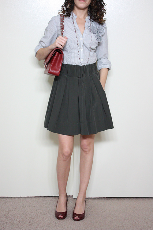 Petite Outfit: Ever Stillwater Skirt Part Deux