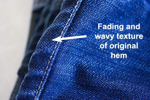 Original Hem Denim Jean Alterations