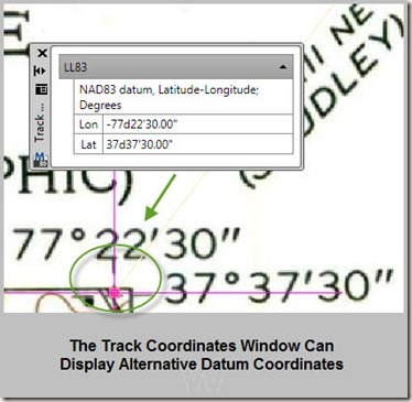 track coordinates