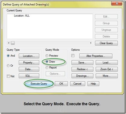 execute the query