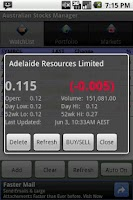 Screenshot of Australian Stock Manager