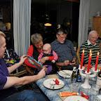 Familien er samlet hos Mormor i Osted