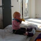 Silje holder en velfortjent pause, og spiser hendes yndlingsfrugt :-)