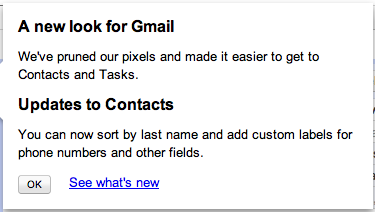 Gmail's New Look Notification