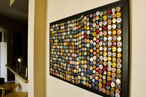 Beer Bottle Art Projects http://www.secondsnack.com/2011/02/using-bottle-caps-beer-labels-and-wine.html