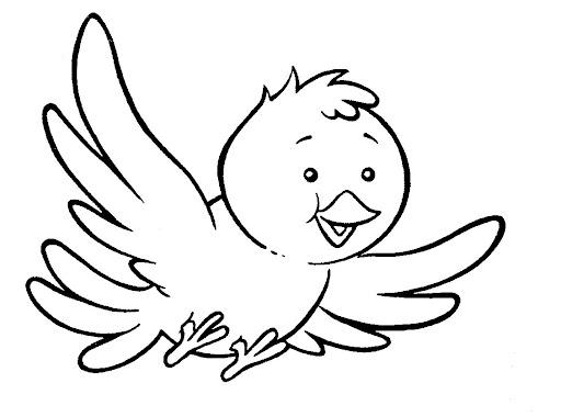 Pajarito volando para colorear - Imagui