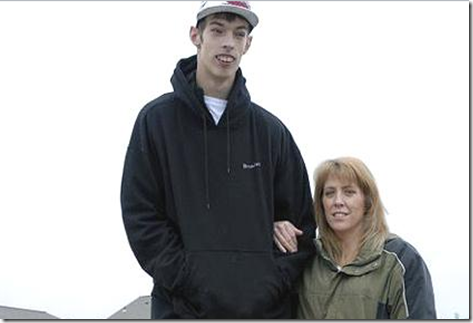 Brendan Adams World's Tallest Teenager
