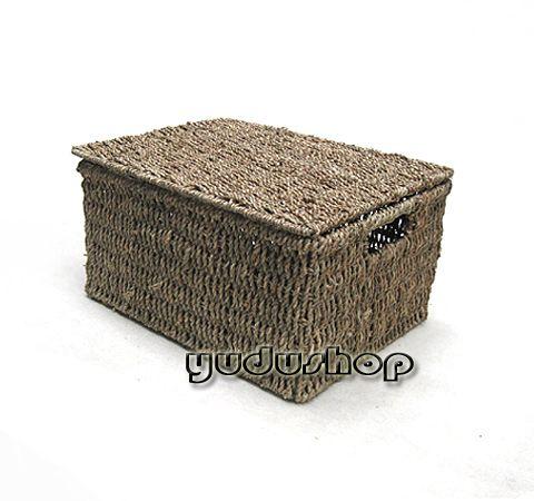 gro e kasten aufbewahrung korb mit deckel seegrass. Black Bedroom Furniture Sets. Home Design Ideas