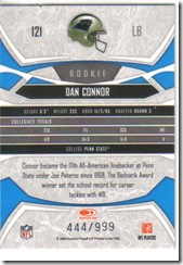 Dan Connor Rookie Back