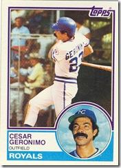 Cesar Geronimo Topps 83
